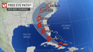 Tropical Storm Fred takes aim at Florida's Gold Coast